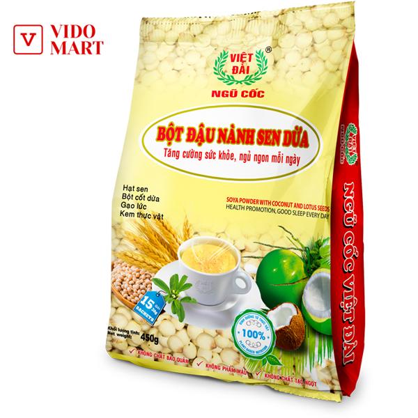 Bột đậu nành sen dừa Việt Đài 450gram