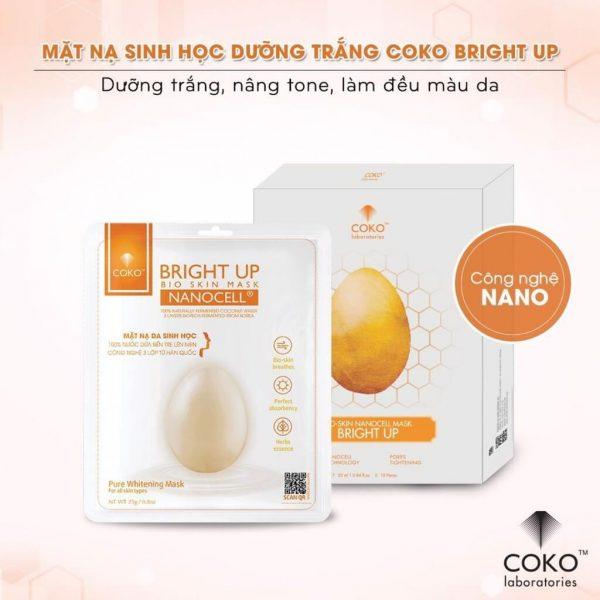 Mặt nạ da sinh học Bright Up Coko
